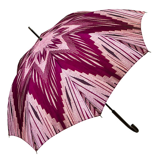 מטרייה מעוטרת בדגם פסים סגול