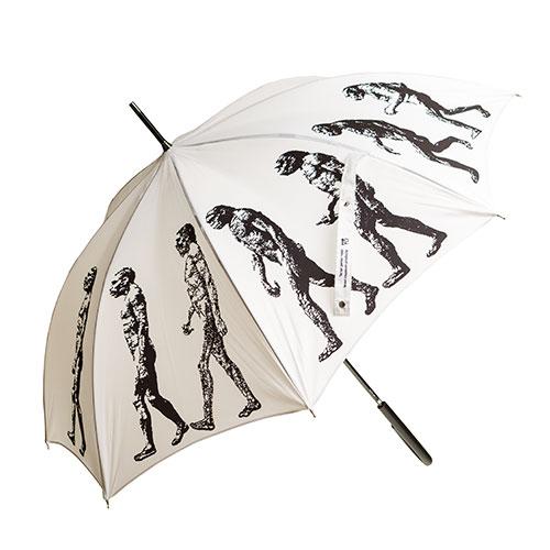 מטרייה מעוטרת במצעד הקדמה (לבן)