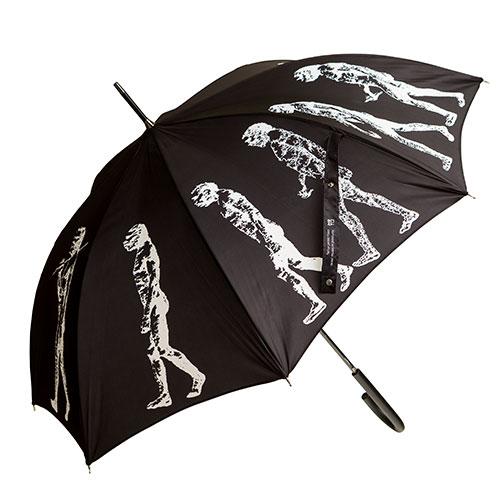 מטרייה מעוטרת במצעד הקדמה (שחור)