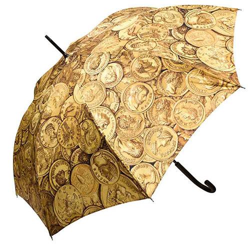 מטרייה מעוטרת בדגמי מטבעות רומיים
