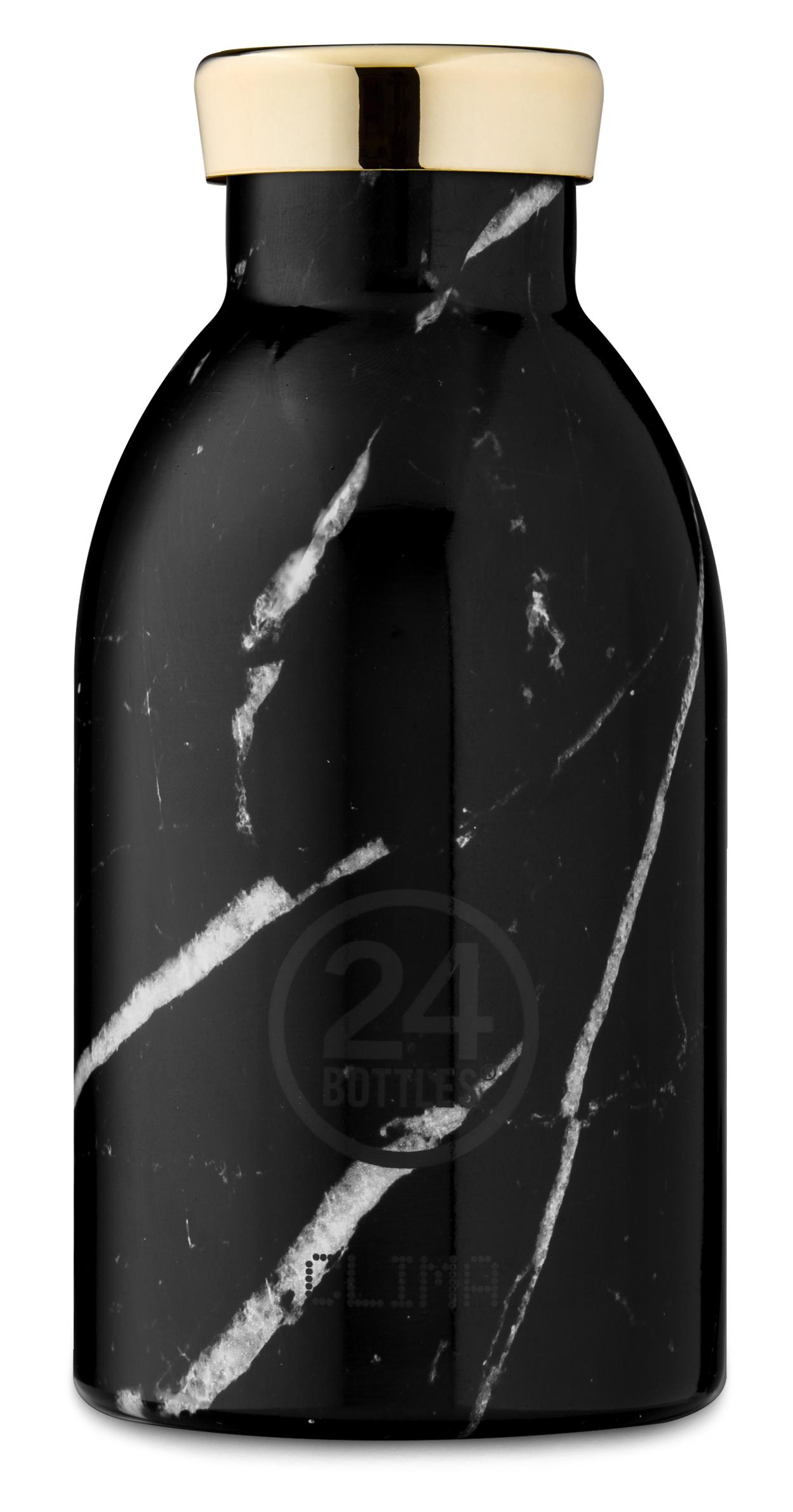 """®24bottles בקבוק """"קלימה"""" תרמי 330 מ""""ל – שחור שיש"""