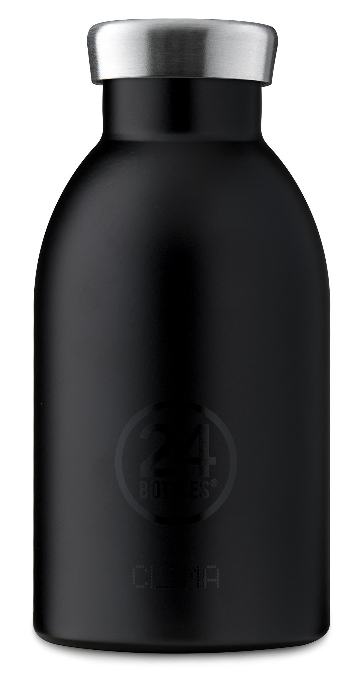 """®24bottles בקבוק """"קלימה"""" תרמי 330 מ""""ל – שחור טוקסידו"""