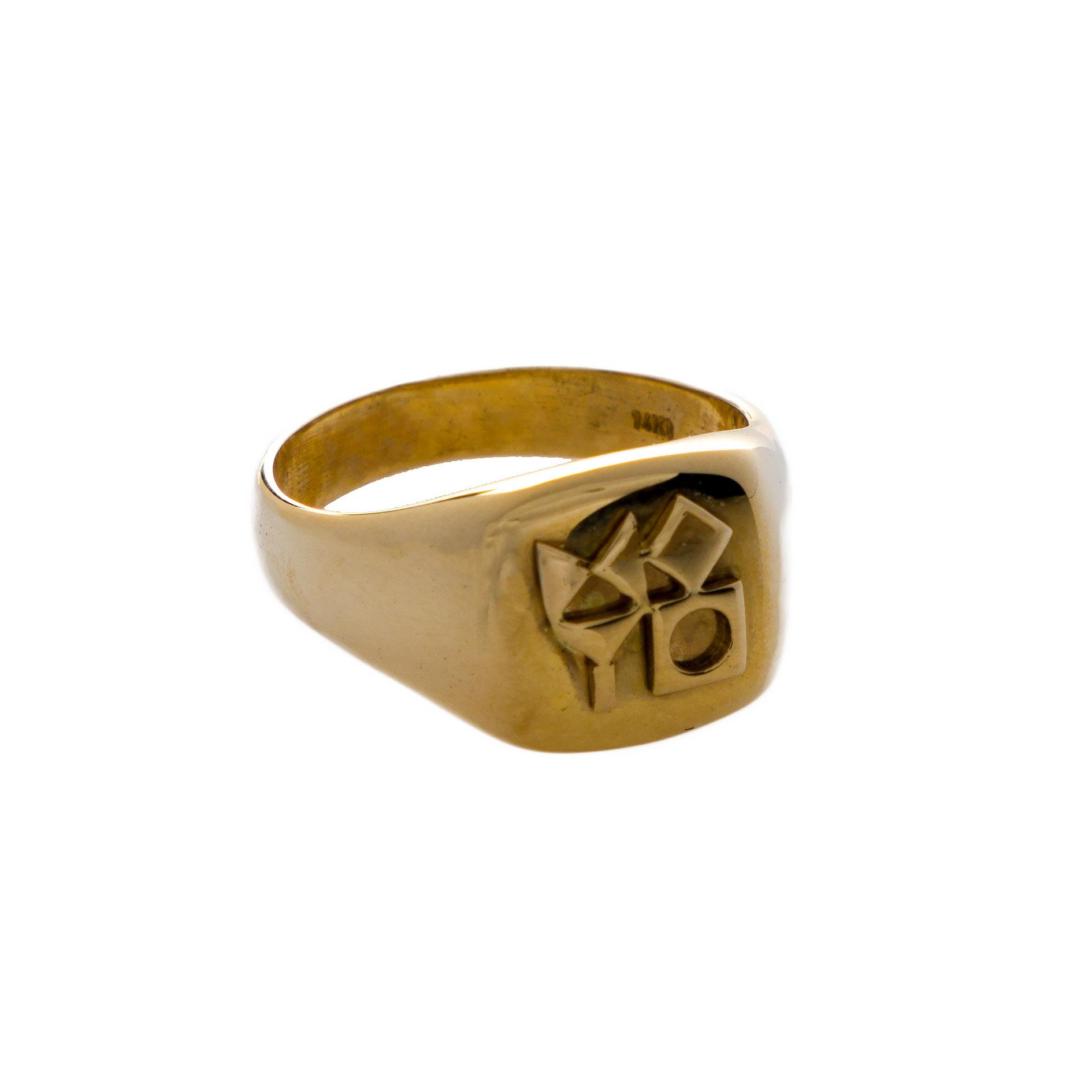 טבעת חותם המוזיאון – ריבוע