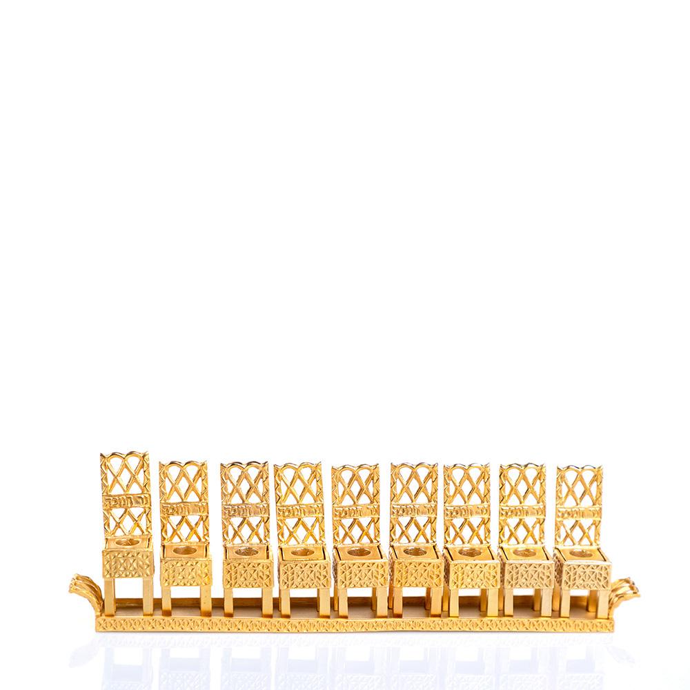 חנוכיית כיסאות – זהב