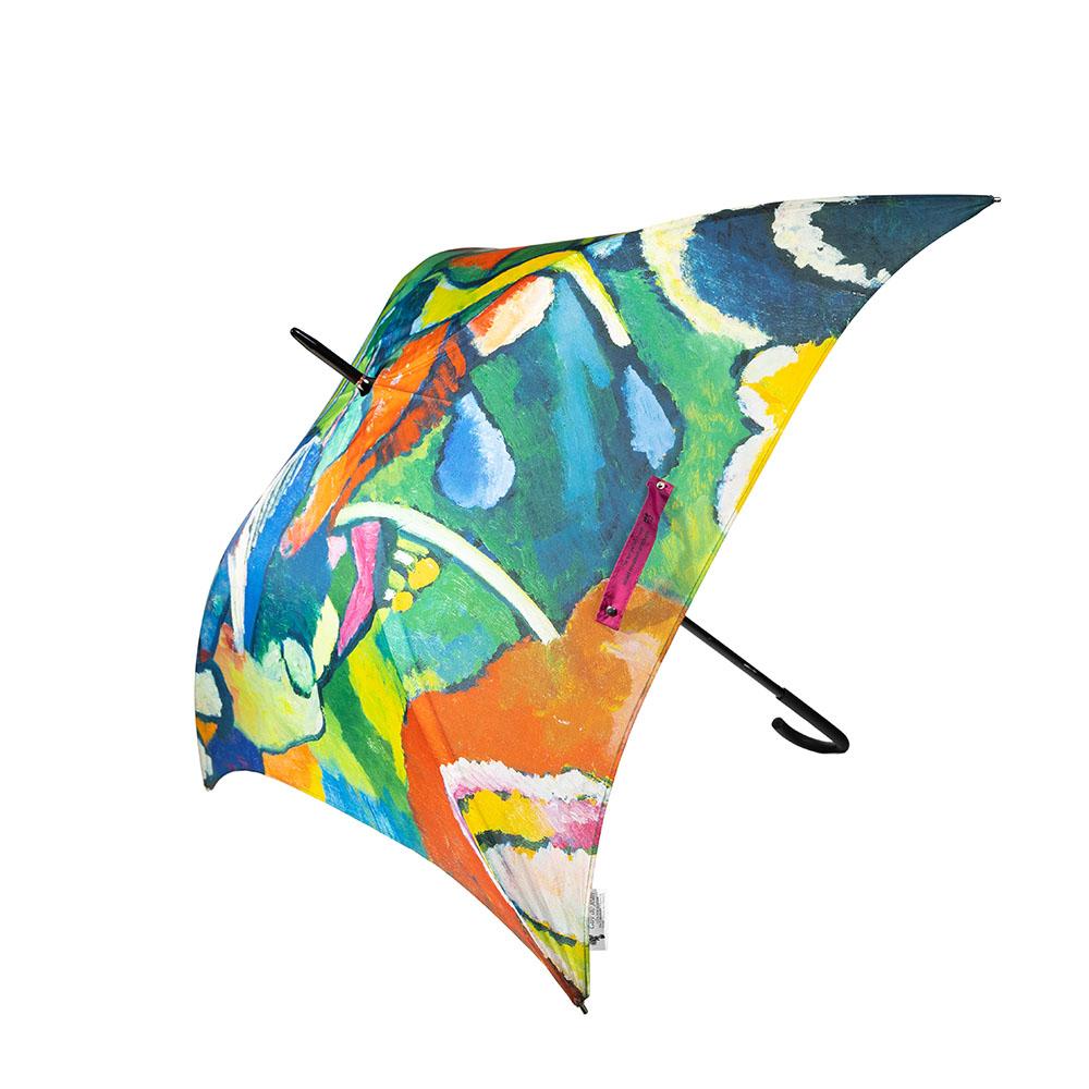 מטרייה מרובעת מעוטרת בשני פרשים, וסילי קנדינסקי
