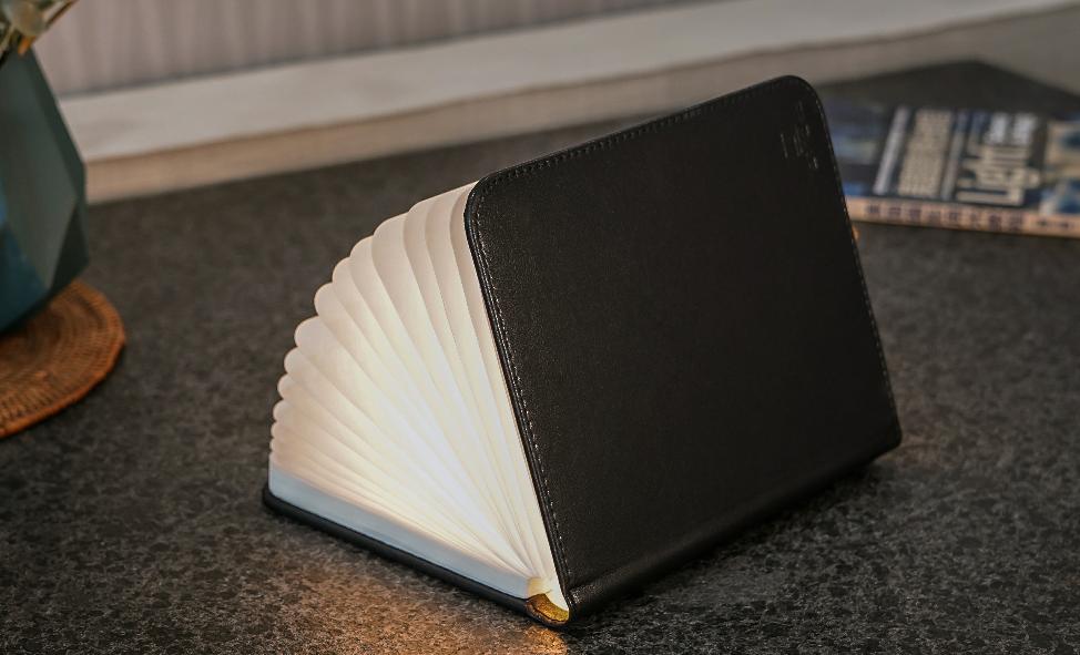 מנורת ספר בכריכת עור