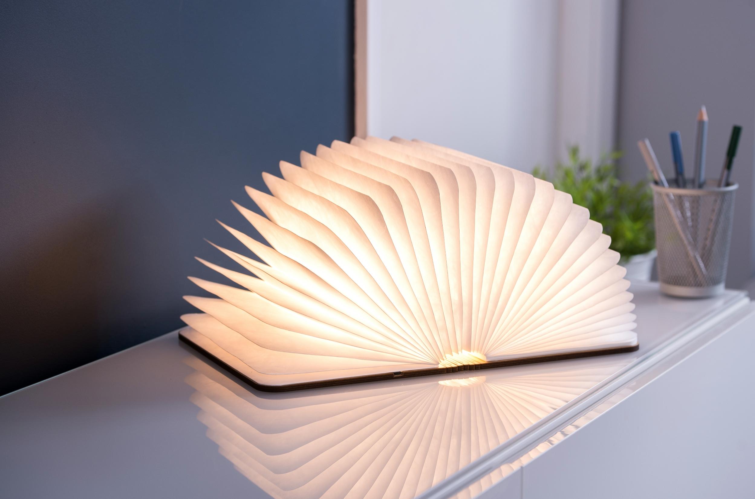 מנורת ספר בכריכת עץ – גדול