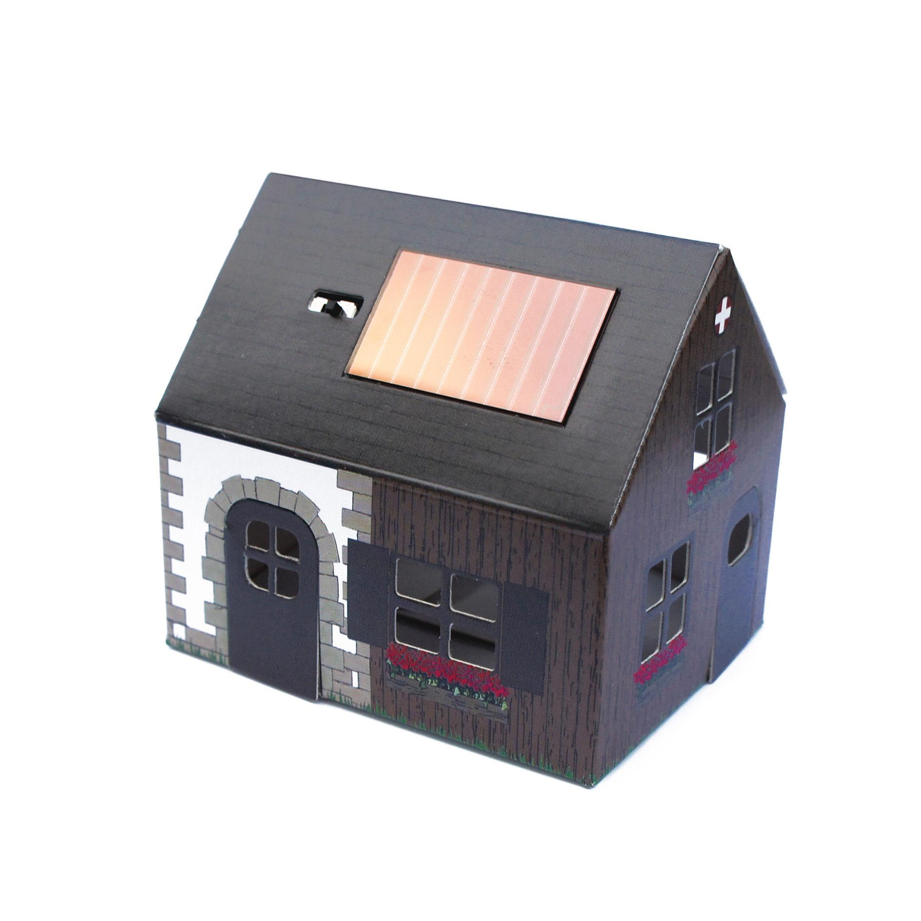 ערכת הרכבה – מנורת לילה סולארית, בית כפרי