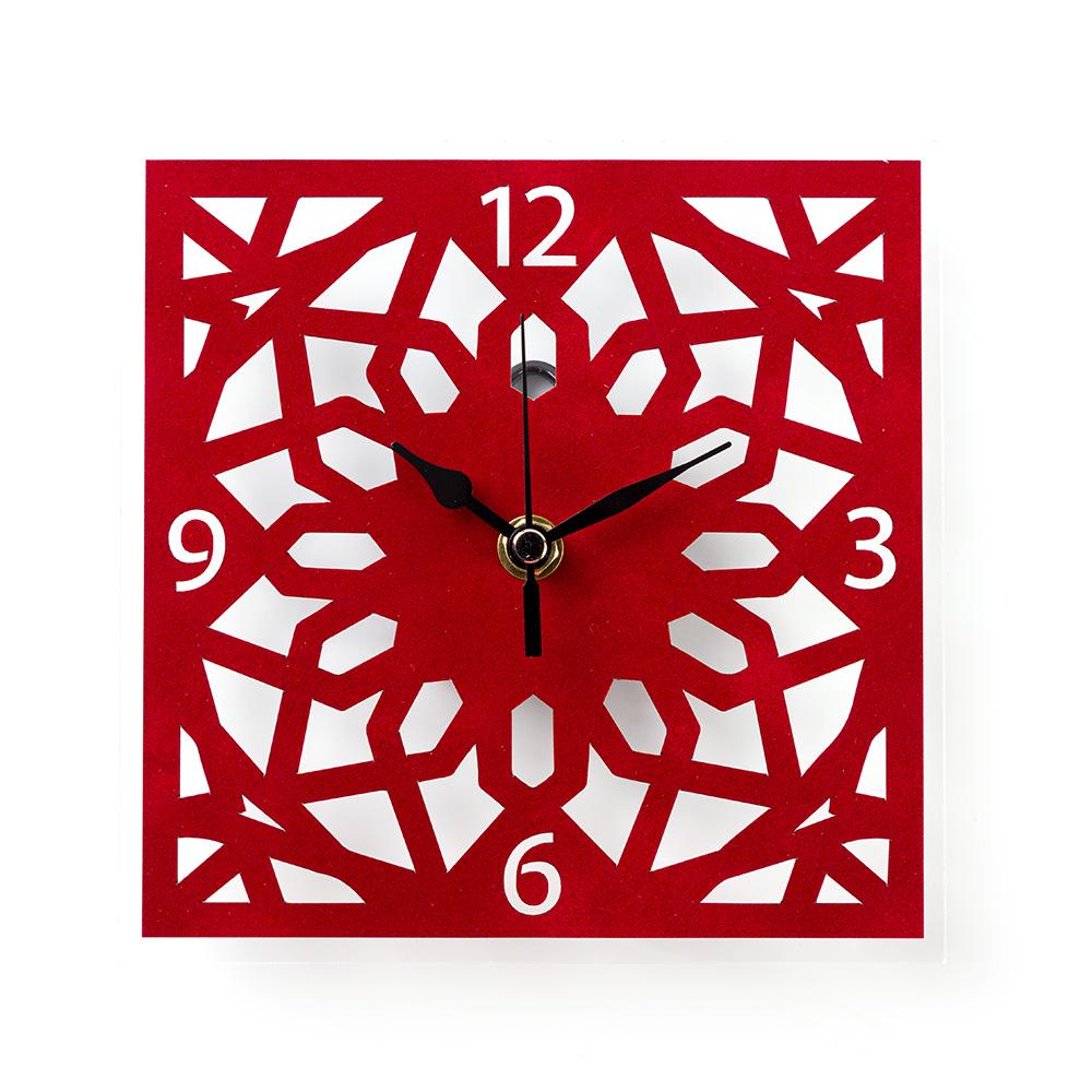 שעון קיר ערבסק הר הבית – אדום