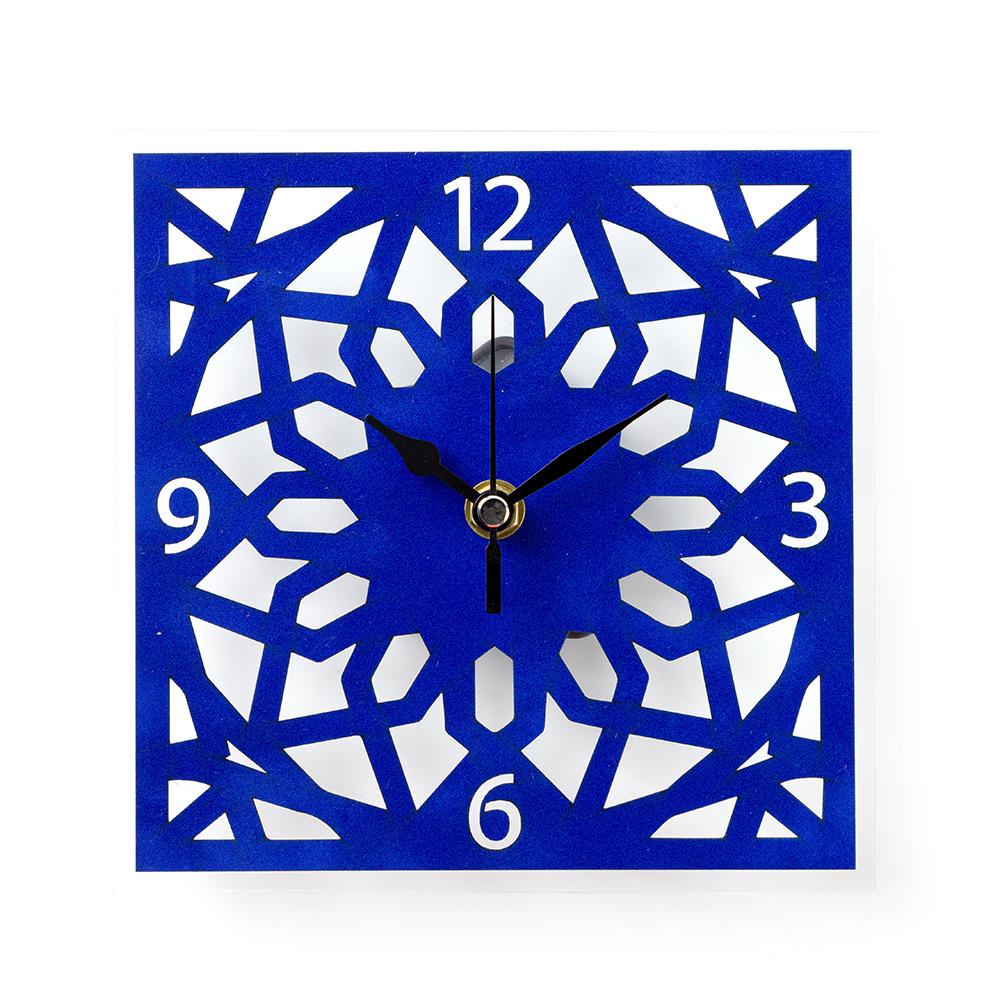 שעון קיר ערבסק הר הבית – כחול