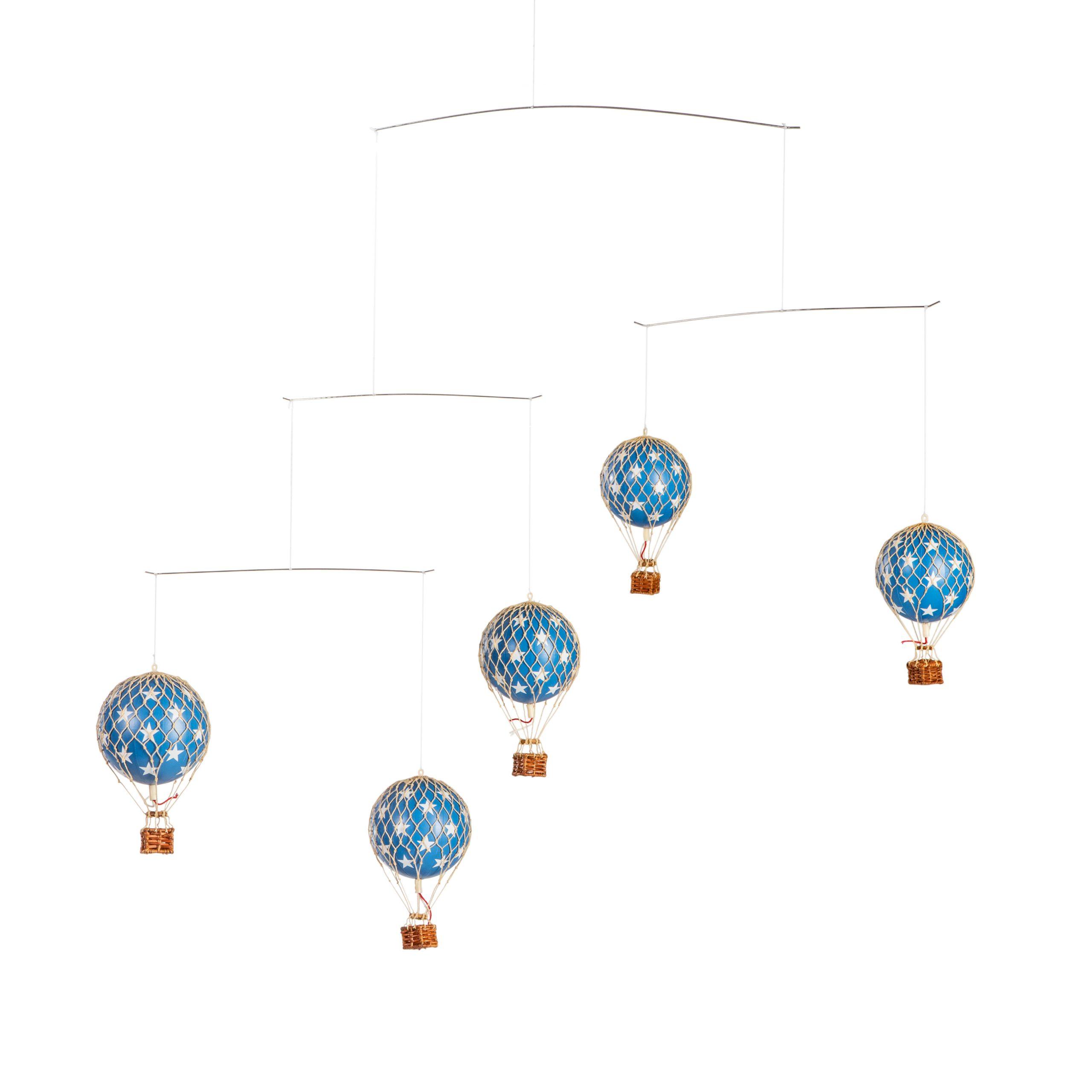 מרצדת (מובייל) כדורים פורחים – כחול וכוכבים