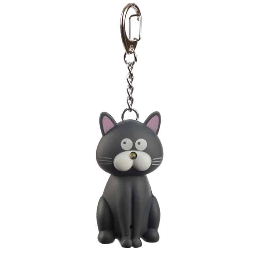 מחזיק מפתחות אור וצליל – חתול